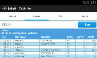 Screenshot of Şirketim Cebimde