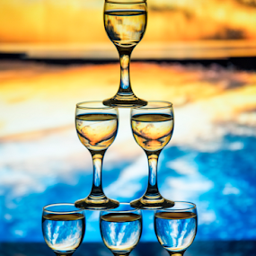 by Fahad Iqbal - Artistic Objects Glass ( water, reflection, glasses )