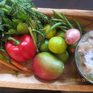 Thai Tiger Prawn vermicelli salad.