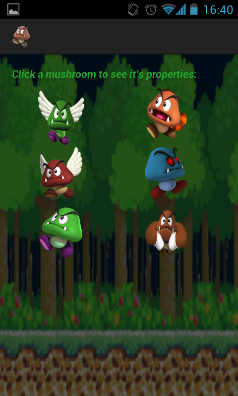Secret of mushroom - screenshot