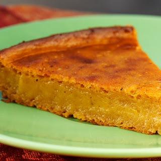 Impossible Vegan Pumpkin Pie.