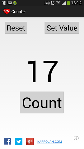 Screenshot of Counter software for Android by KARPOLAN