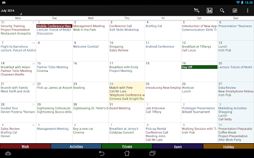 Business Calendar Screenshot 11
