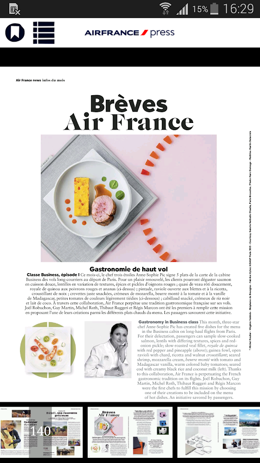 Air France Press – Capture d'écran
