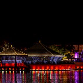 Vesak  by Kavindu Anthony - Buildings & Architecture Places of Worship ( colombo, gangarama, colombo lake, vesak, buddhist, traditional, sri lanka, worship, visit sri lanka, beauty of sri lanka, riligious, temple, vesak2014, colourful, hunupitiya, nightlights, buddhisum, bere lake, city, night )