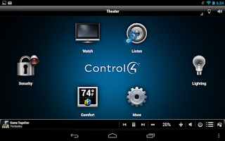 Screenshot of Control4® MyHome