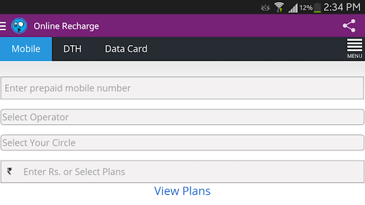 Mobile And DTH Recharge India screenshot 5