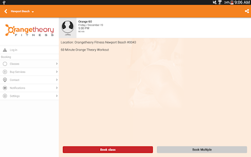 Orangetheory Fitness Booking- screenshot thumbnail