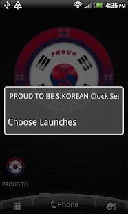 PROUD TO BE SOUTH KOREAN Clock - screenshot thumbnail