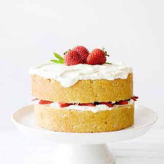 White Chocolate Strawberry Cake.