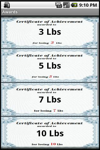 Losing Weight Awards - Android Apps on Google Play