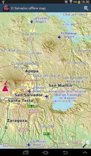 El Salvador offline map