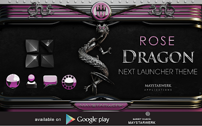 dragon digital clock rose APK screenshot thumbnail 11