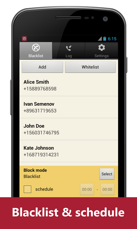Blacklist Plus - Call Blocker - screenshot