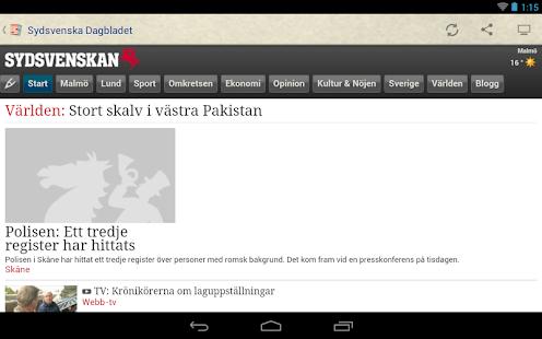 Sverige Tidningar - screenshot thumbnail