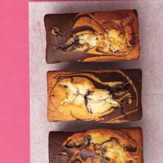 Chocolate-Vanilla Marble Cakes.