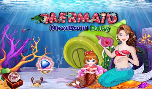 新生児の赤ちゃん人魚のゲーム
