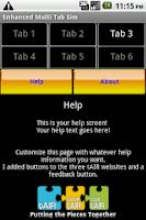 Screenshot of MultiTab Starter Template
