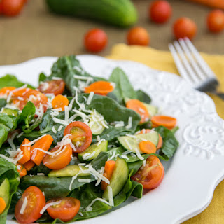Spinach Salad with Balsamic Vinaigrette.