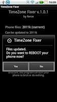 Screenshot of TimeZone Fixer (ROOT)