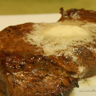 Pan Fried Steaks with Garlic Butter.