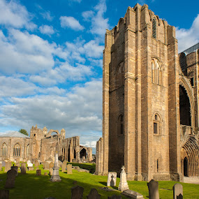 Ruins old cathedral  by Miroslav Havelka - Buildings & Architecture Public & Historical ( scotland, cathedral, ruins, landscape, storm, sun )