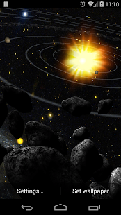 Asteroid Belt Live Wallpaper - screenshot thumbnail