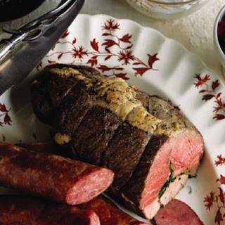 Herb-Stuffed Leg of Lamb