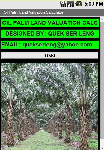 Oil Palm Land Valuation Calc