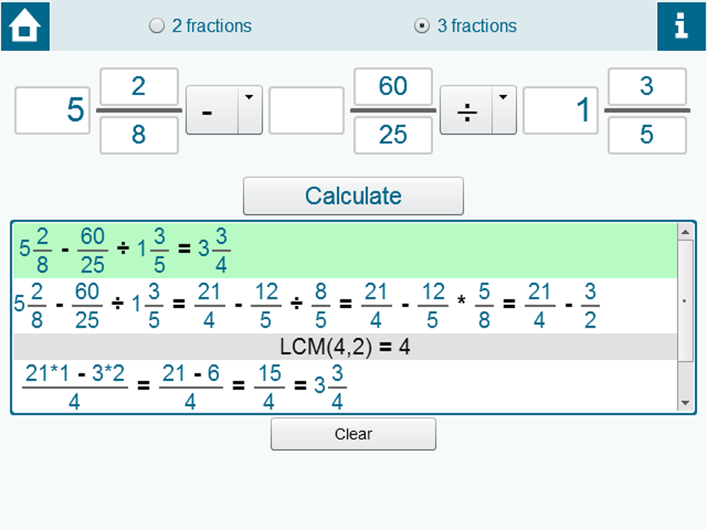 how to add fractions on a calculator