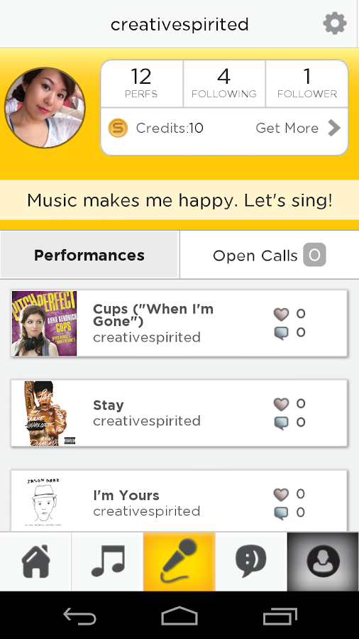 how to use smule karaoke