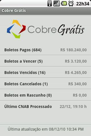 Cobre Grátis- screenshot