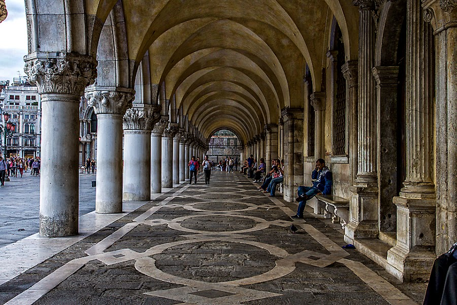 Doge's Palace by Adeline Tan - Buildings & Architecture Architectural Detail ( building, doge's palace, arch, venice, architecture, italy, , Urban, City, Lifestyle )