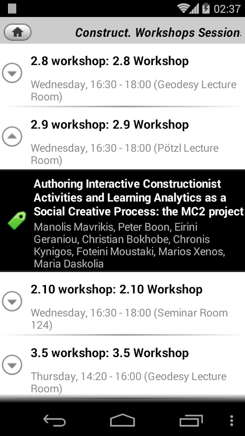 Constructionism 2014- screenshot
