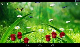 Screenshot of Summer Garden Live Wallpaper