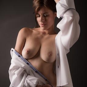 Dreamer by Tom Fensterseifer - Nudes & Boudoir Boudoir ( topless, panty, brunette, boobs )