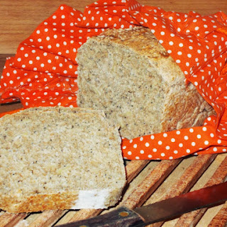 Whole Wheat Bread with Sesame Seeds, Poppy Seeds, and Almond Flakes.
