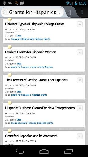 Hispanic Scholarships Grants