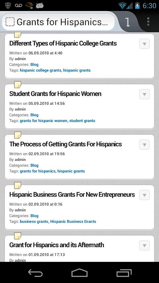 Hispanic Scholarships & Grants - screenshot
