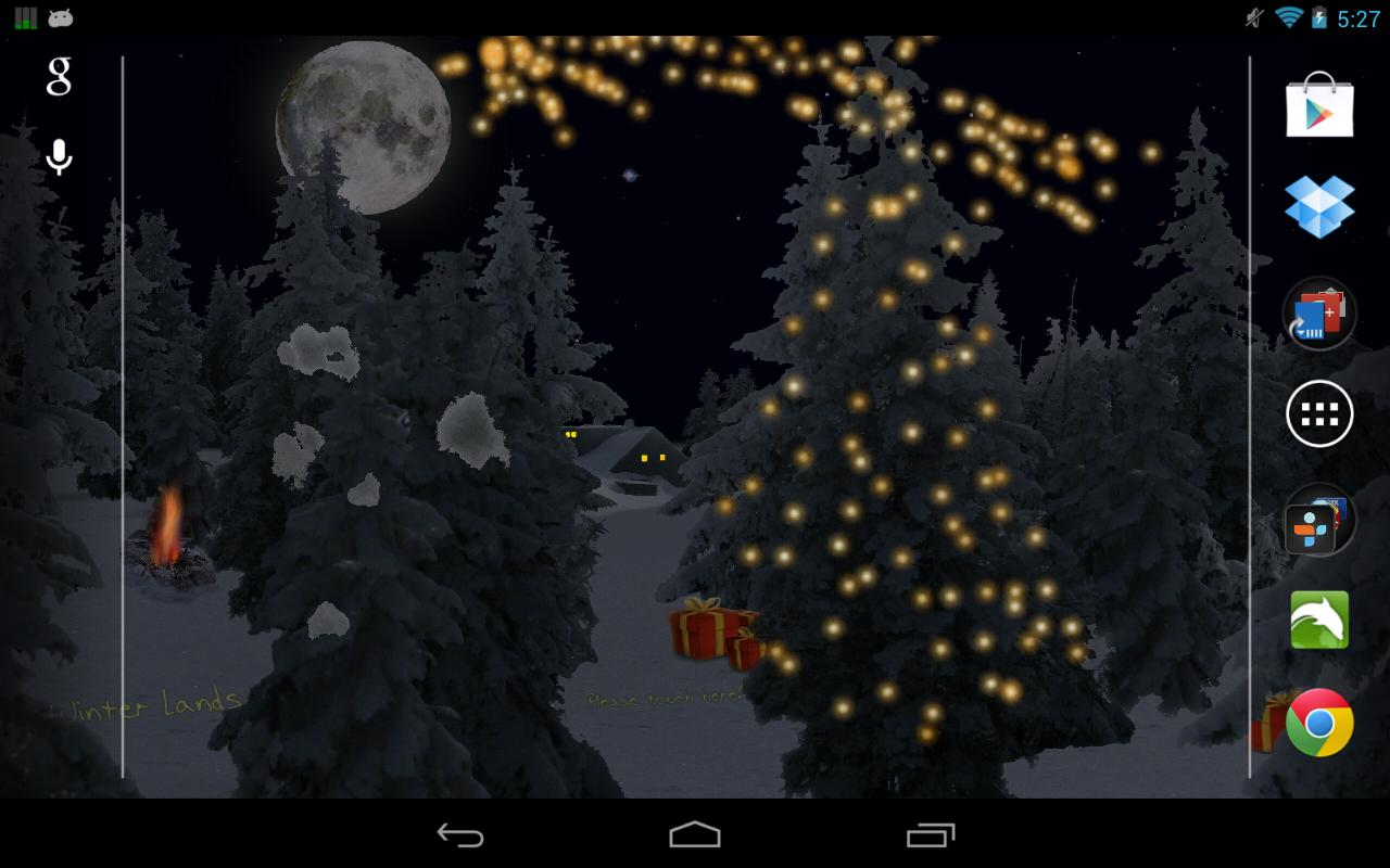 Winter Snowfall Live Wallpaper - screenshot