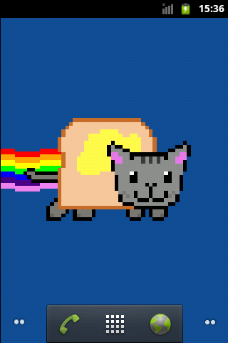 Nyan cat Live Wallpaper - screenshot