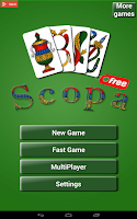 Screenshot of Scopa Free