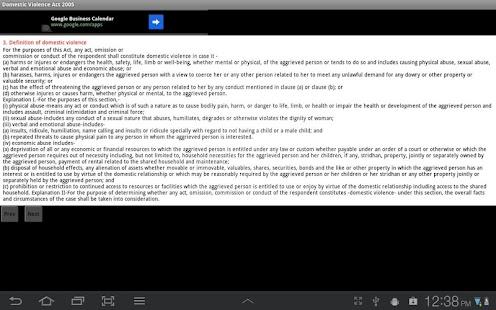 Domestic Violence Act 2005- screenshot thumbnail