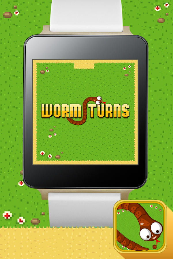 Worm Turns - Android Wear - screenshot
