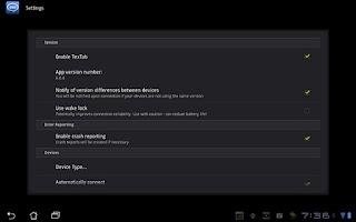 Screenshot of TexTab Lite