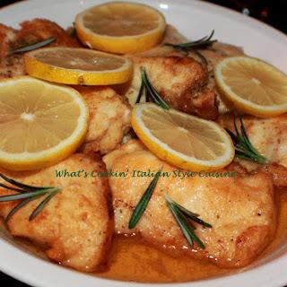Lemon Rosemary Chicken Cutlet.