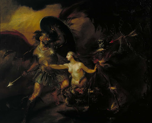 Satan, Sin and Death (A Scene from Milton's `Paradise Lost')