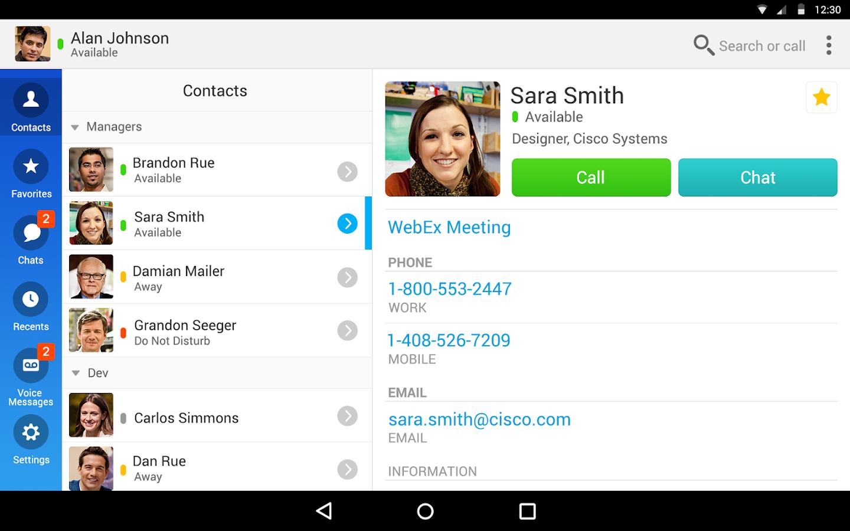Cisco Jabber - screenshot