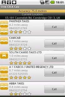 One Click Cab - screenshot thumbnail