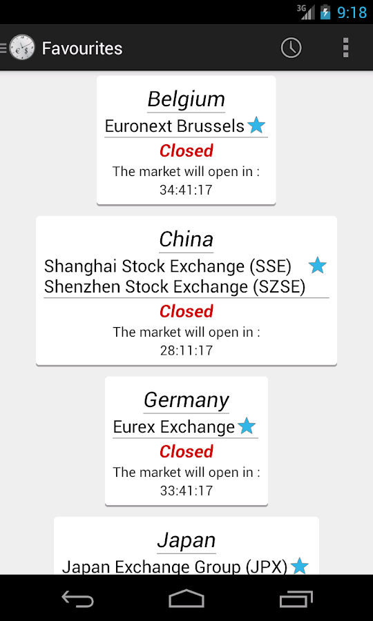 Stock Markets Clock - screenshot
